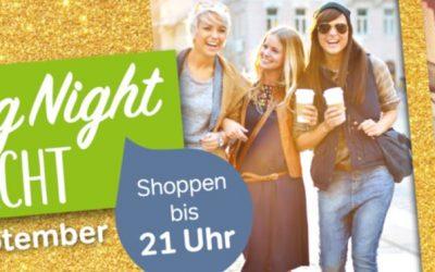 Shoppen bis 21 Uhr am 29. September – ab 18 Uhr 10 % Rabatt