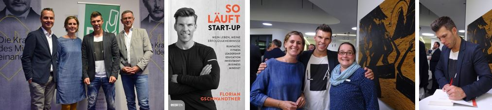 "Buchpräsentation mit ""Mister Runtastic"" Florian Gschwandtner – Sep 2018"