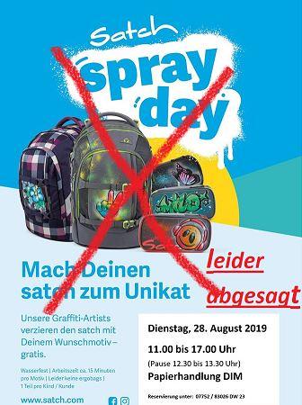 Spray Day Ried – abgesagt