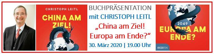 China am Ziel? Europa am Ende? Buchpräsentation mit Christoph Leitl