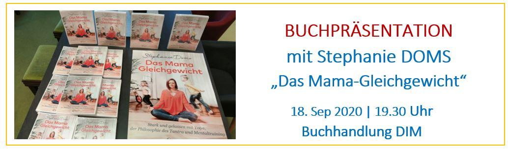 Buchpräsentation mit Stephanie Doms – Das Mama-Gleichgewicht, Sep 2020
